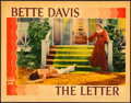 Movie Posters:Film Noir, The Letter (Warner Brothers, 1940). Very Fine+. Li...