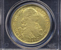 Colombia: , Colombia: Ferdinand VII gold 8 Escudos 1819-NR-JF, KM66.1, Fr-60,AU53 PCGS.. From The James Rogers Collection....