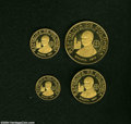 Colombia: , Colombia: Republic gold Proof Set 1968, the four coin setconsisting of : KM231-234, 100, 200, 300, and 500 Pesos,commemorating the... (Total: 4 coins Item)