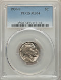Buffalo Nickels: , 1930-S 5C MS64 PCGS. PCGS Population: (624/708). NGC Census: (301/200). CDN: $160 Whsle. Bid for problem-free NGC/PCGS MS64...