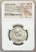 Ancients:Roman Imperial, Ancients: Hadrian (AD 117-138). AR cistophorus (28mm, 8.44 gm, 6h).NGC VF 4/5 - 3/5, overstruck....