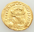 Ancients:Byzantine, Ancients: Constans II Pogonatus (AD 641-668). AV solidus (21mm, 4.41 gm, 6h). XF, scratches, marks....