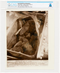 """AP Original Wirephotos: """"Moon Rocks"""" July 26, 1969, Directly From The Armstrong Family Collection™, CAG Certif..."""