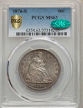 Seated Half Dollars, 1876-S 50C MS63 PCGS. CAC. PCGS Population: (52/47 and 1/6+). NGC Census: (35/38 and 0/2+). MS63. Mintage 4,528,000....