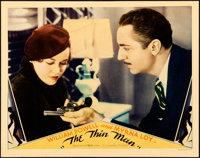 "The Thin Man (MGM, 1934). Fine/Very Fine on Cardstock. Lobby Card (11"" X 14"")"