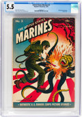 Golden Age (1938-1955):War, United States Marines #3 (Magazine Enterprises, 1944) CGC FN- 5.5 Cream to off-white pages....