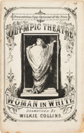 Books:Mystery & Detective Fiction, [Wilkie Collins]. Woman in White, Olympic Theatre. (Altered from the Novel for performance on the Stage), by Wilki...