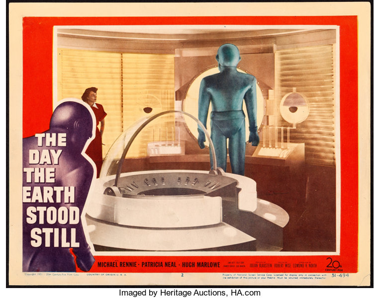 Still Pictures Are All Very Fine And >> The Day The Earth Stood Still 20th Century Fox 1951 Fine Very