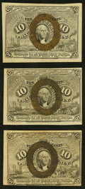 Fractional Currency:Second Issue, 10¢ Second Issue Three Examples.. ... (Total: 3 notes)