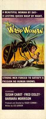 """The Wasp Woman (Warner Brothers, 1959). Rolled, Fine/Very Fine. Insert (14"""" X 36"""")"""