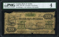 Liverpool, NS - Bank of Acadia $20 2.12.1872 Ch.# 5-10-08 PMG Good 4