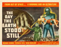 "Movie Posters:Science Fiction, The Day the Earth Stood Still (20th Century Fox, 1951). Very Goodon Paper. Half Sheet (22"" X 28"").. ..."