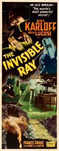 Movie Posters:Horror, The Invisible Ray (Realart, R-1948). Fine/Very Fine on Pap...