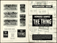 "The Thing from Another World (RKO, 1951). Fine+. Uncut Pressbook (20 Pages, 12"" X 18"")"