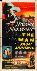 """Movie Posters:Western, The Man from Laramie (Columbia, 1955). Folded, Fine. Three Sheet (41"""" X 79""""). Western.. ..."""