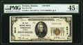 National Bank Notes:Kansas, Toronto, KS - $20 1929 Ty. 1 The First NB Ch. # 6819 PMG Choice Extremely Fine 45 EPQ.. ...