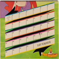 Calendar 1969.The Beatles Yellow Submarine Calendar With Original Mailer Envelope 1969