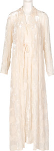 Movie/TV Memorabilia:Costumes, Farrah Fawcett Owned Krizia Night Gown and Matching Robe