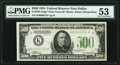Small Size:Federal Reserve Notes, Fr. 2201-K* $500 1934 Federal Reserve Note. PMG About Uncirculated 53.. ...
