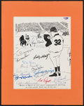 Autographs:Photos, New York Yankee Greats Multi-Signed Display with Roger Maris (17 Signatures)....