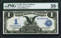 Fr. 230 $1 1899 Silver Certificate PMG Choice About Unc 58 EPQ