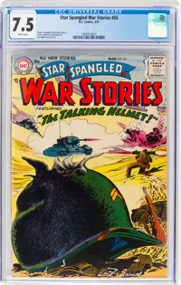 Star Spangled War Stories #55 (DC, 1957) CGC VF- 7.5 White pages