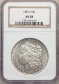 Morgan Dollars: , 1884-S $1 AU58 NGC. NGC Census: (1855/442). PCGS Population: (1360/337). CDN: $1,500 Whsle. Bid for problem-free NGC/PCGS A...
