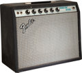 Musical Instruments:Amplifiers, PA, & Effects, 1979 Fender Princeton Reverb Black Guitar Amplifier, Serial # A954481....