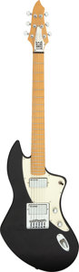 Musical Instruments:Electric Guitars, Modern Lace Cybercaster Black Solid Body Electric Guitar, Serial # 00105....