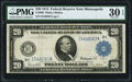 Large Size:Federal Reserve Notes, Fr. 999 $20 1914 Federal Reserve Note PMG Very Fine 30 EPQ.. ...