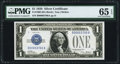 Low Serial Number 3700 Fr. 1600 $1 1928 Silver Certificate. PMG Gem Uncirculated 65 EPQ