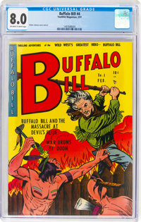 Buffalo Bill #4 (Youthful Magazines, 1951) CGC VF 8.0 Off-white to white pages