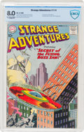 Silver Age (1956-1969):Science Fiction, Strange Adventures #114 (DC, 1960) CBCS VF 8.0 Off-white to white pages....