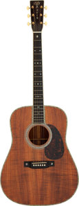 Musical Instruments:Acoustic Guitars, 2002 Martin D-42 K2 Natural Acoustic Guitar, Serial # 860857....
