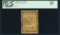 Continental Currency February 17, 1776 $2/3 PCGS Very Fine 20