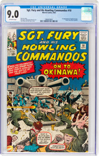Sgt. Fury and His Howling Commandos #10 (Marvel, 1964) CGC VF/NM 9.0 Off-white pages