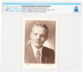 Explorers:Space Exploration, Purdue University: 1954 Smiling Portrait of Neil Armstrong in Suit, a Family Photo Identified on the Verso by Viola Armstrong,...