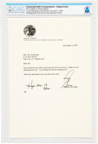 Gene Cernan 2000-dated Typed Letter Signed to Janet Armstrong Directly From The Armstrong Family Collection™, CAG