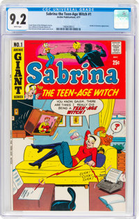 Sabrina The Teen-Age Witch #1 (Archie, 1971) CGC NM- 9.2 White pages