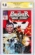 Modern Age (1980-Present):Superhero, The Punisher War Zone #1 Signature Series (Marvel, 1992) CGC NM/MT 9.8 White pages....