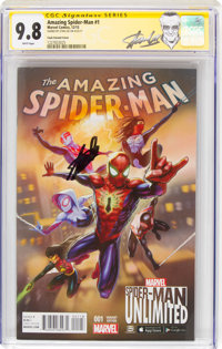 The Amazing Spider-Man #1 Cook Variant Cover - Signature Series (Marvel, 2015) CGC NM/MT 9.8 White pages