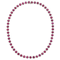 Ruby, Diamond, White Gold Necklace