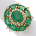 Estate Jewelry:Rings, Emerald, Diamond, Gold Ring, Foreli . ...