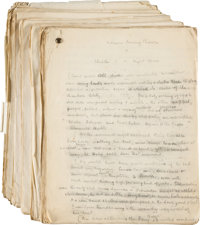 "H. C. Bailey. Group of Three Holograph Manuscripts and a First Edition, comprising: ""The Thistle Down"" Hologra..."