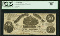 Confederate Notes:1861 Issues, T14 $50 1861 PF-1 Cr. 59 PCGS Very Fine 30.. ...