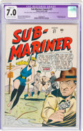 Golden Age (1938-1955):Superhero, Sub-Mariner Comics #27 (Timely, 1948) CGC Apparent FN/VF 7.0 Slight (C-1) Off-white to white pages....