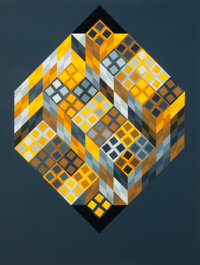 Victor Vasarely (1906-1997) Untitled Screenprint in colors on wove paper 36-1/4 x 27-1/2 inches (