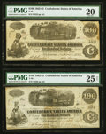T40 $100 1862 PF-1; PF-3 Cr. 298; Cr. 302 PMG Very Fine 20; PMG Very Fine 25 Net. ... (Total: 2 notes)