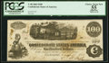 Confederate Notes:1862 Issues, T40 $100 1862 PF-1 Cr. 298 PCGS Apparent Choice About New 55.. ...