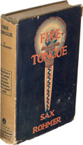 Books:Mystery & Detective Fiction, Sax Rohmer. Fire-Tongue. Garden City: 1922. First U. S. edition, with an advance copy.. ... (Total: 2 Items)